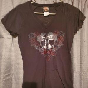 Black harley davidson shirt